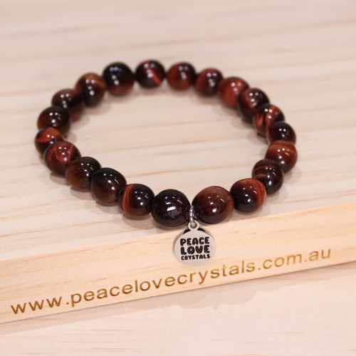 Red Tiger Eye Pebble Bracelet