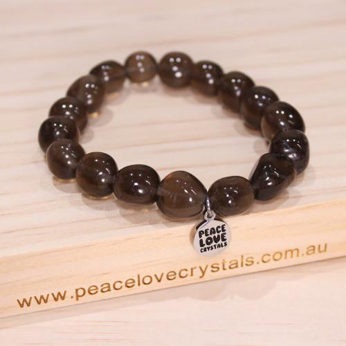 Smoky Quartz Pebble Bracelet