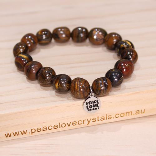 Tiger Iron Pebble Bracelet