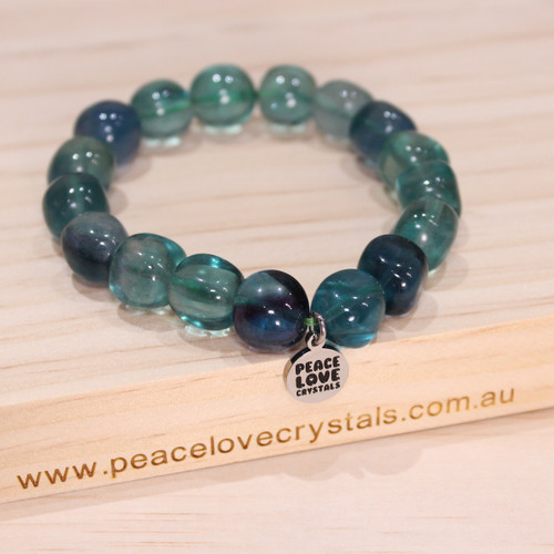 Blue Fluorite Pebble Bracelet
