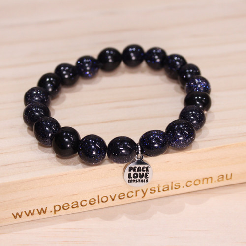 Blue Goldstone Pebble Bracelet