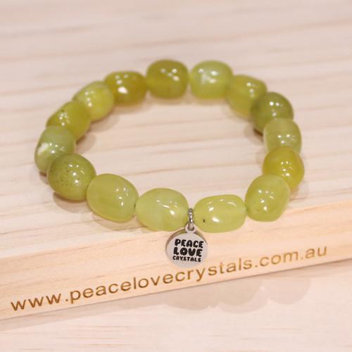 Green Serpentine Pebble Bracelet