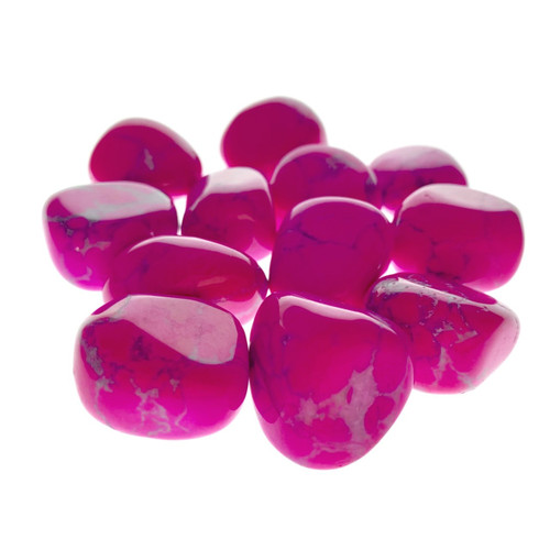 Pink Howlite Tumbled Stones