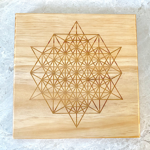 Twelve Pointed Star Sacred Geometry Crystal Grid