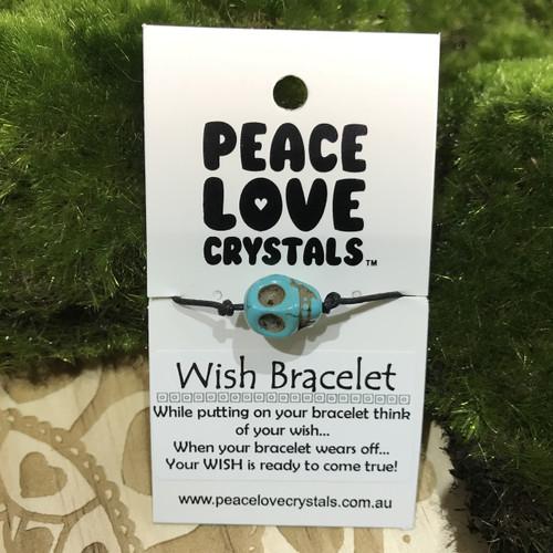Skull Blue Wish Bracelet