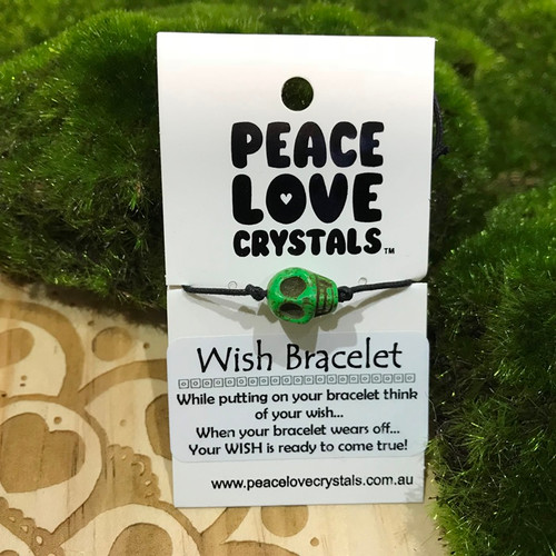 Skull Green Wish Bracelet