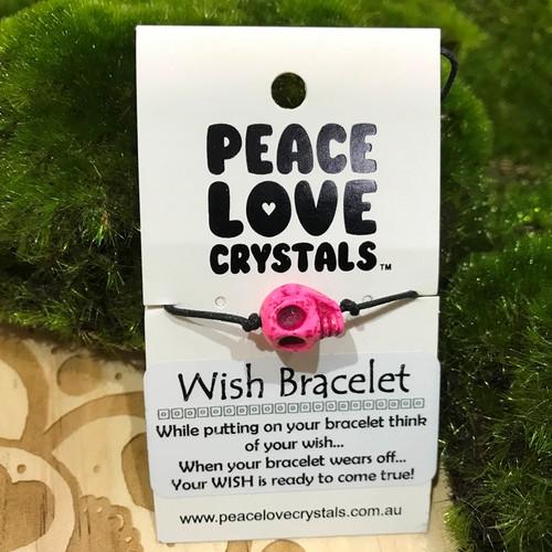 Skull Pink Wish Bracelet