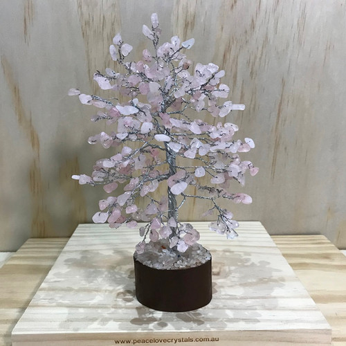 Rose Quartz Crystal Tree