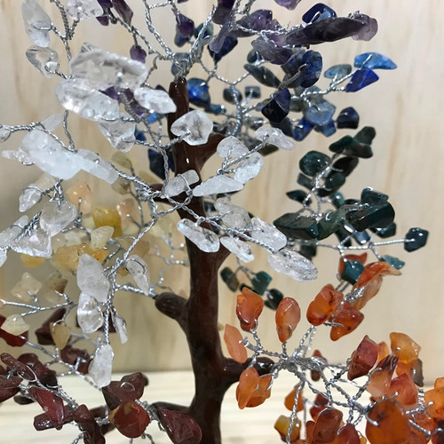 Chakra Crystal Brown Trunk Tree