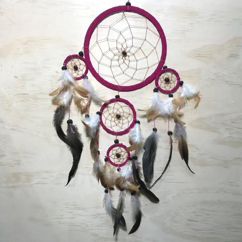 Fuchsia Pink Dreamcatcher