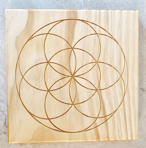 Seed of Life Sacred bounded Geometry Crystal Grid