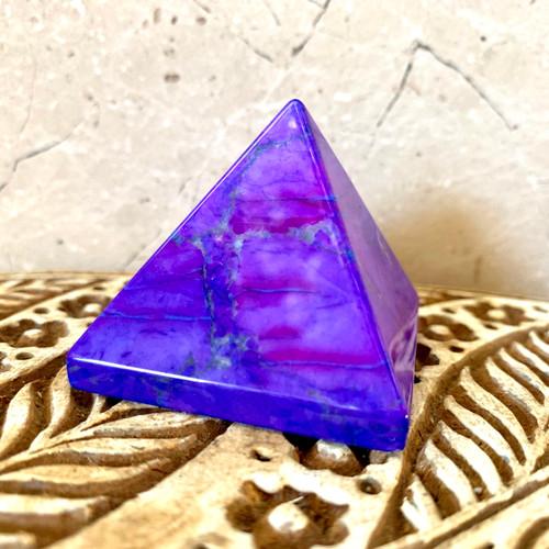 Purple Howlite Pyramid