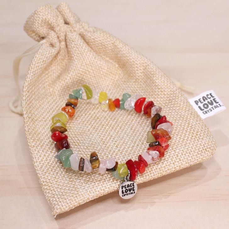 Mixed Gemstones Chip Bracelet