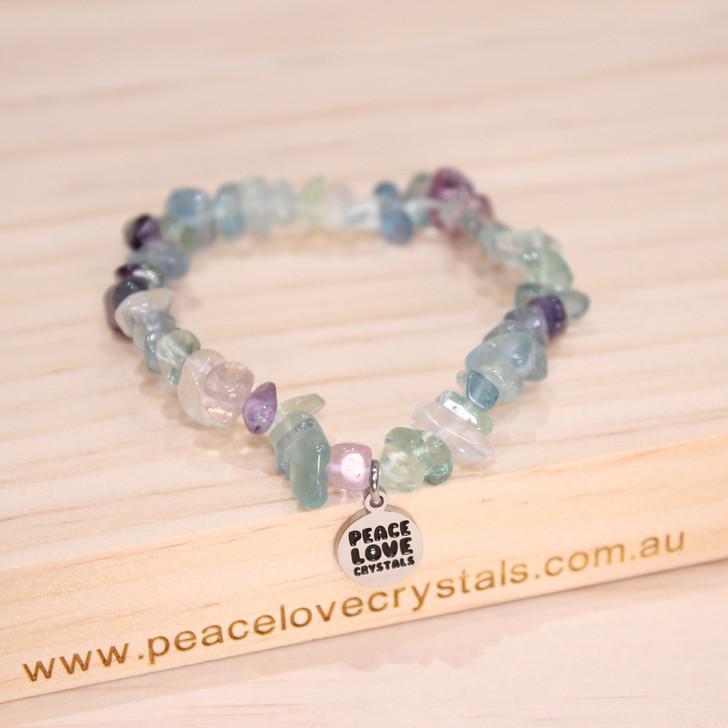Rainbow Fluorite Chip Bracelet