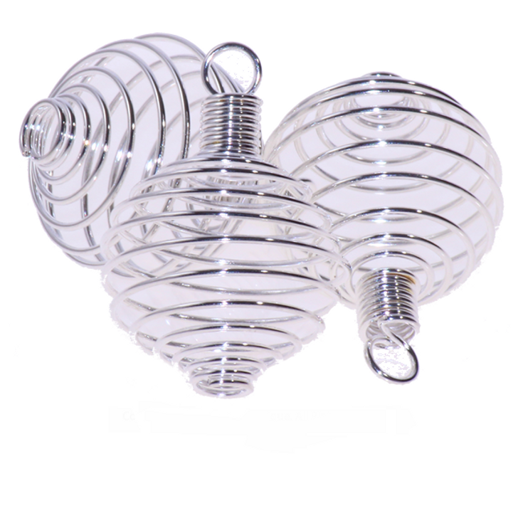 Stainless steel Tumbled Stones Pendant Cages