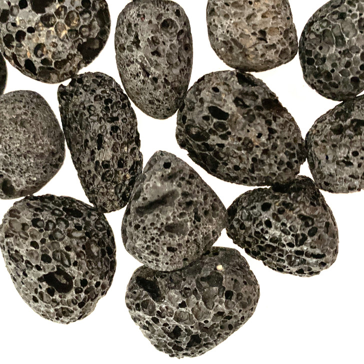 Black Lava Tumbled Stones