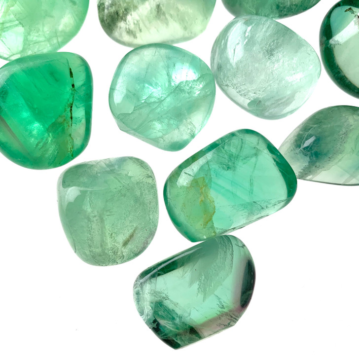 Green Fluorite Tumbled Stones