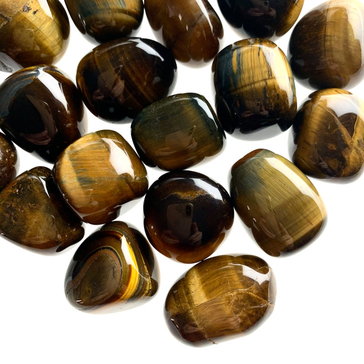 Gold Tiger Eye Tumbled Stones