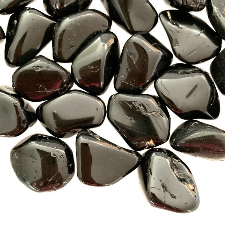 Black Tourmaline Tumbled Stones