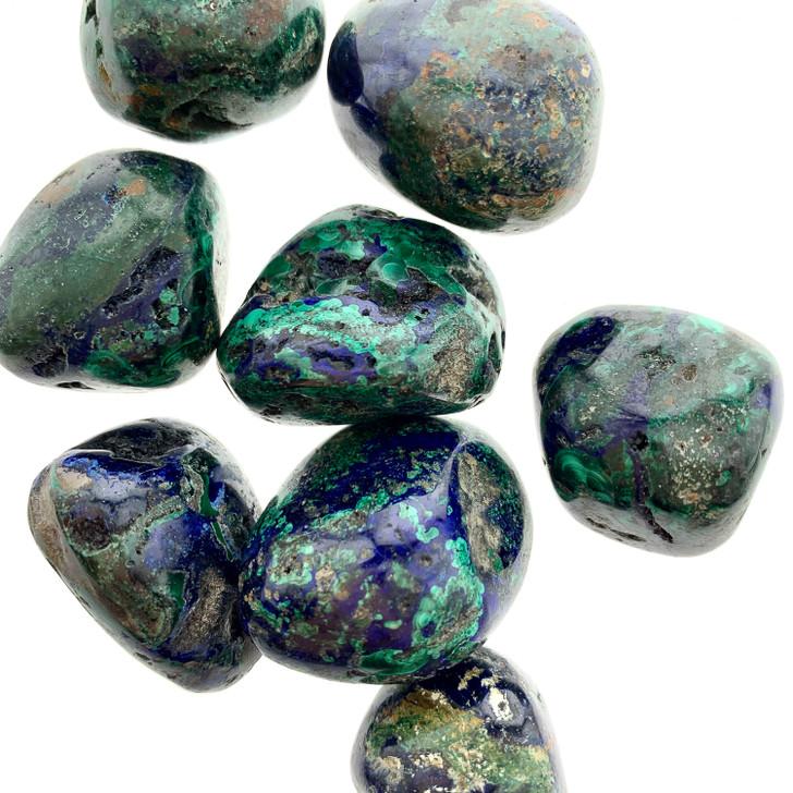 Azurite Malachite Tumbled Stones