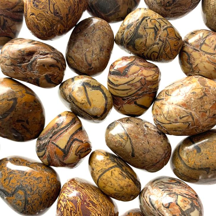 Brown Snakeskin Jasper Tumbled Stones