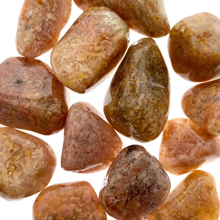 Pink Moss Agate Tumbled Stones