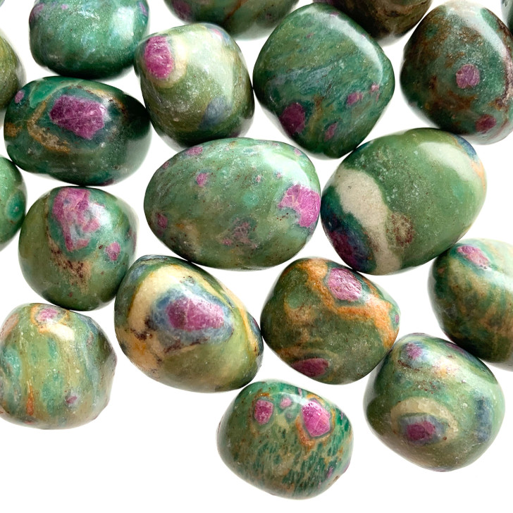 Ruby Fuchsite Tumbled Stones