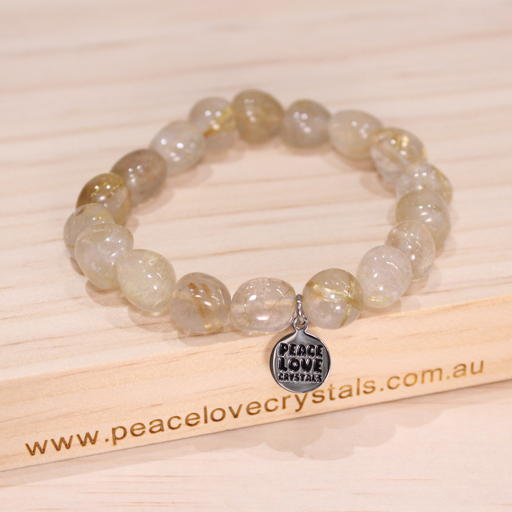 Rutilated Quartz Pebble Bracelet