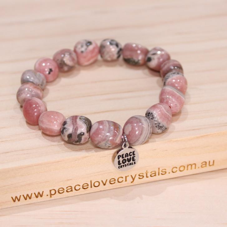 Rhodochrosite Pebble Bracelet