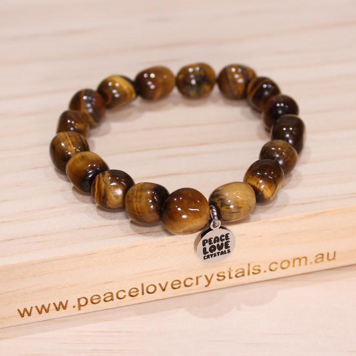 Gold Tiger Eye Pebble Bracelet