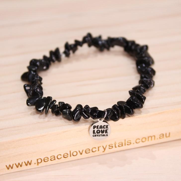 Black Obsidian Chip Bracelet