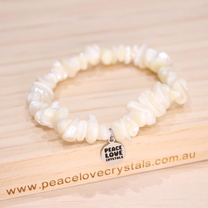 Mother of Pearl Chip Bracelet