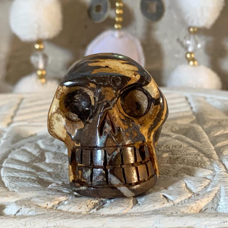 Boulder Opal Skull