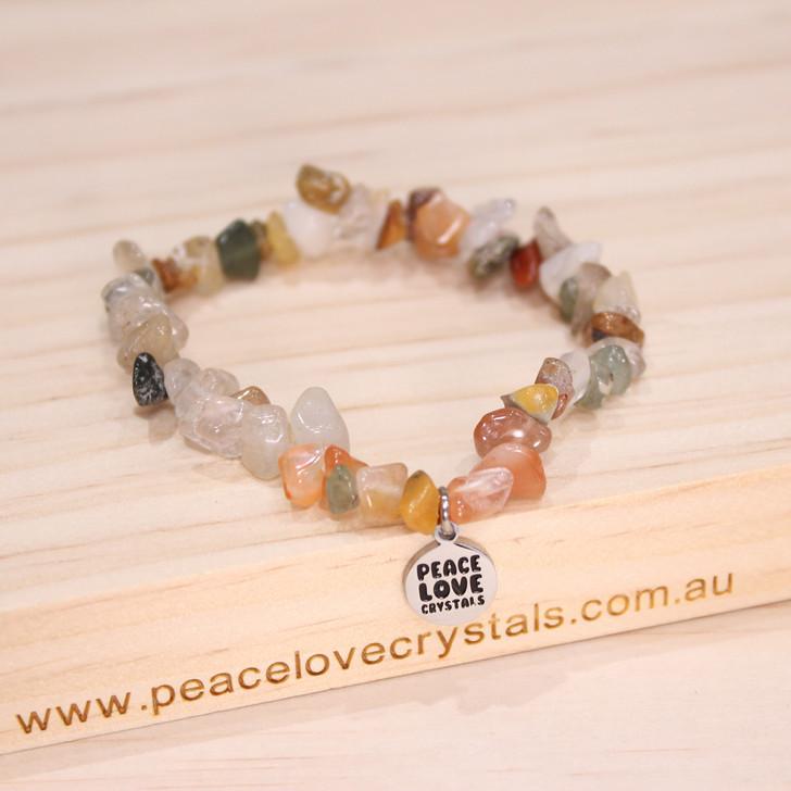Natural Crystal Mix Chip Bracelet