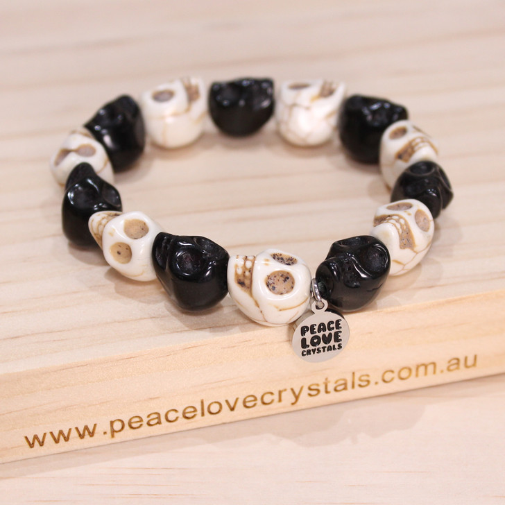 Black and White Skull Bracelet