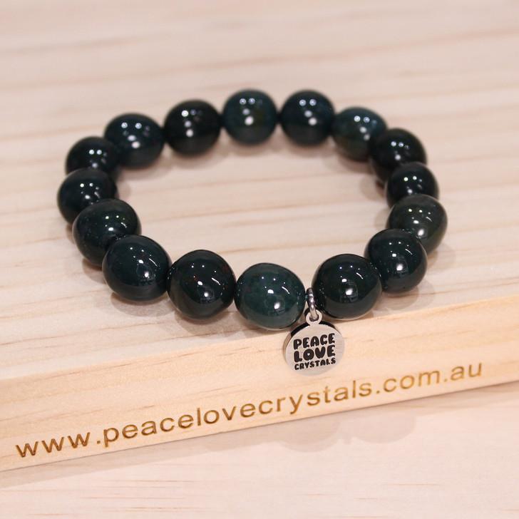 Bloodstone Pebble Bracelet