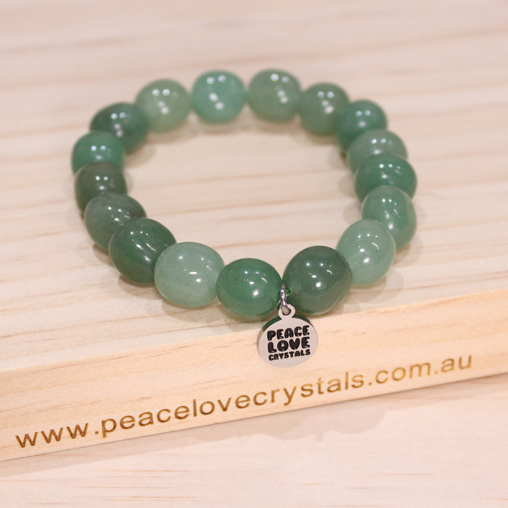 Green Aventurine Pebble Bracelet