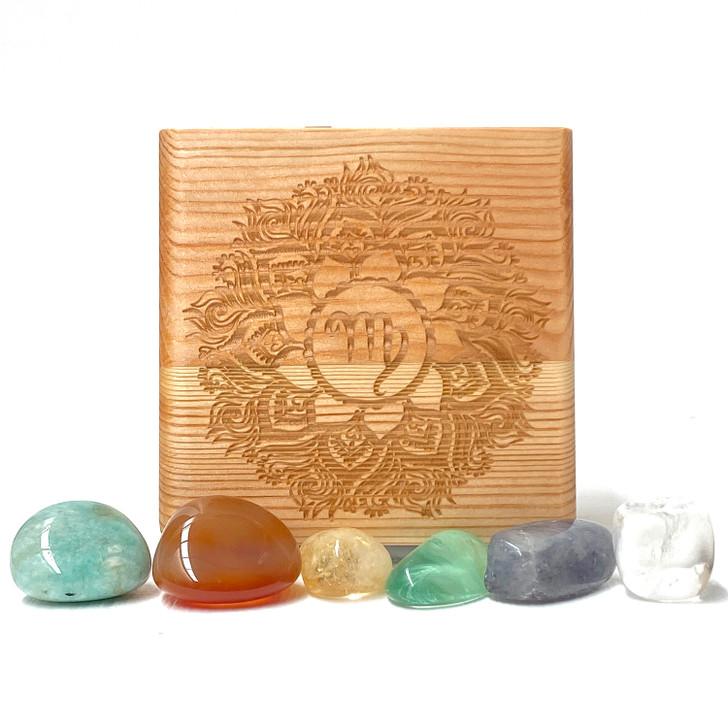 Virgo Zodiac Crystal Collection Box
