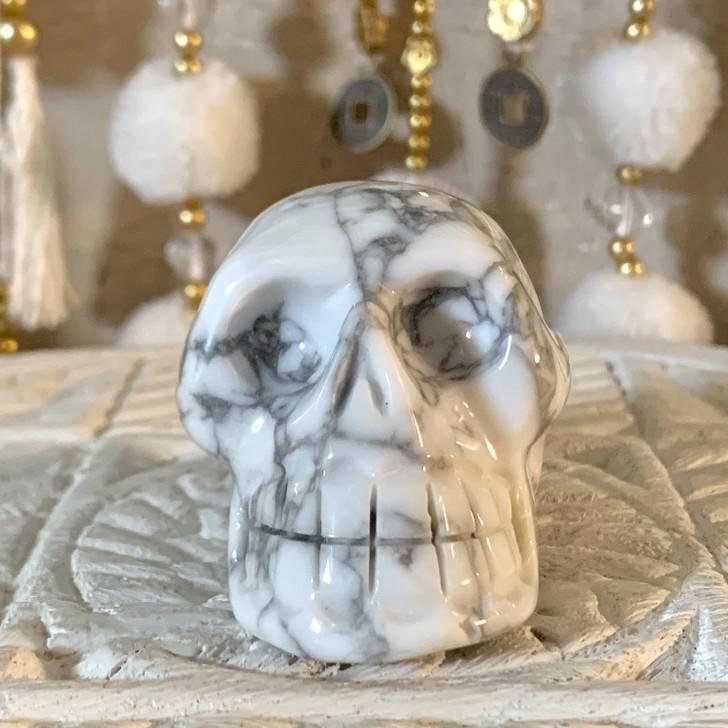 White Howlite Skull