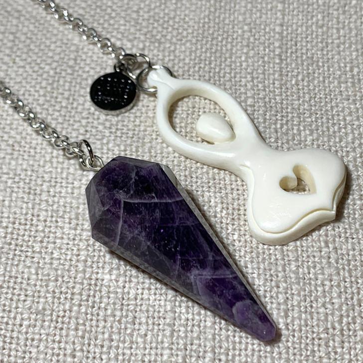 Chevron Amethyst Goddess Pendulum