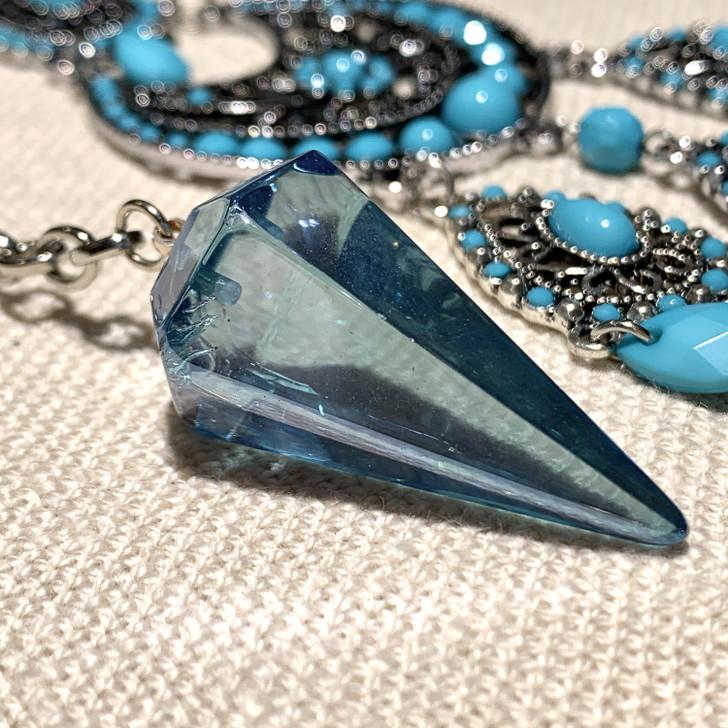 Aqua Aura Quartz Gypsy Pendulum