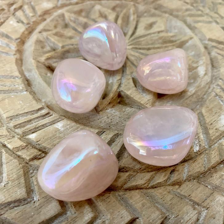 Rose Aura Quartz Tumbled Stones