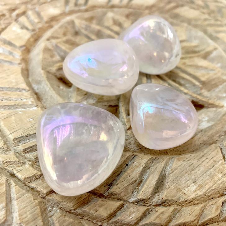 Angel Aura Quartz Tumbled Stones