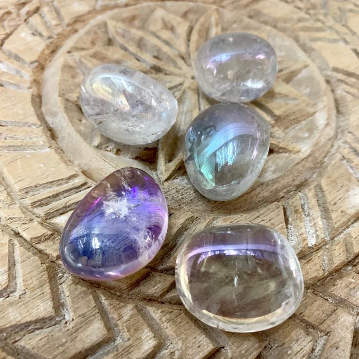 Aqua Aura Quartz Tumbled Stones