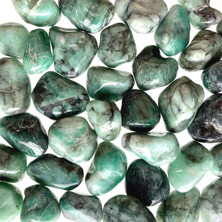 Emerald Tumbled Stones