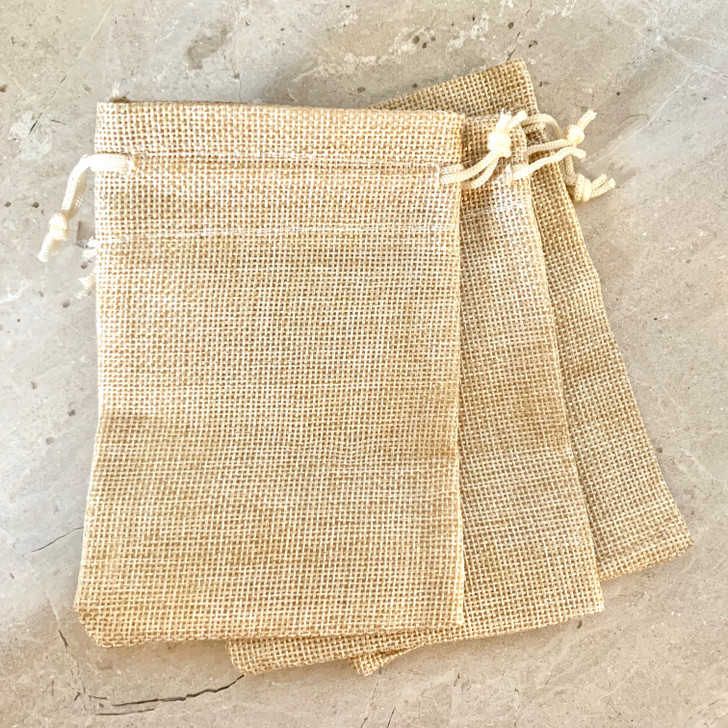 Hessian Pouch - 3 pack