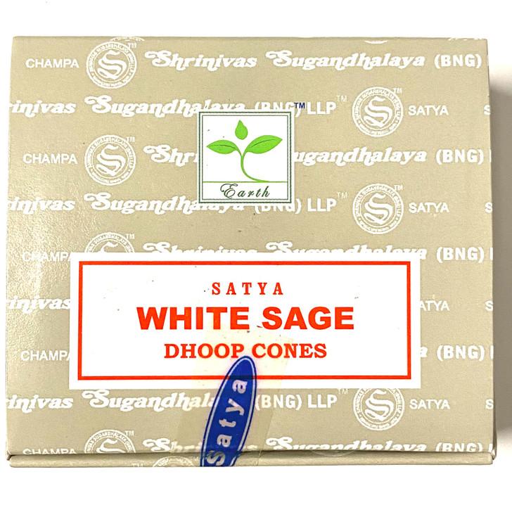 White Sage Satya Incense Cones