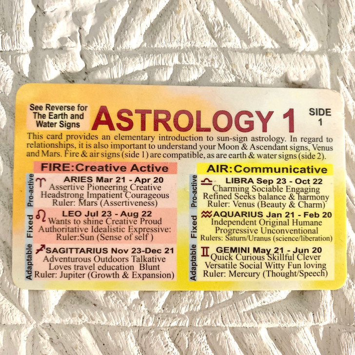 Wallet Card Astrology One
