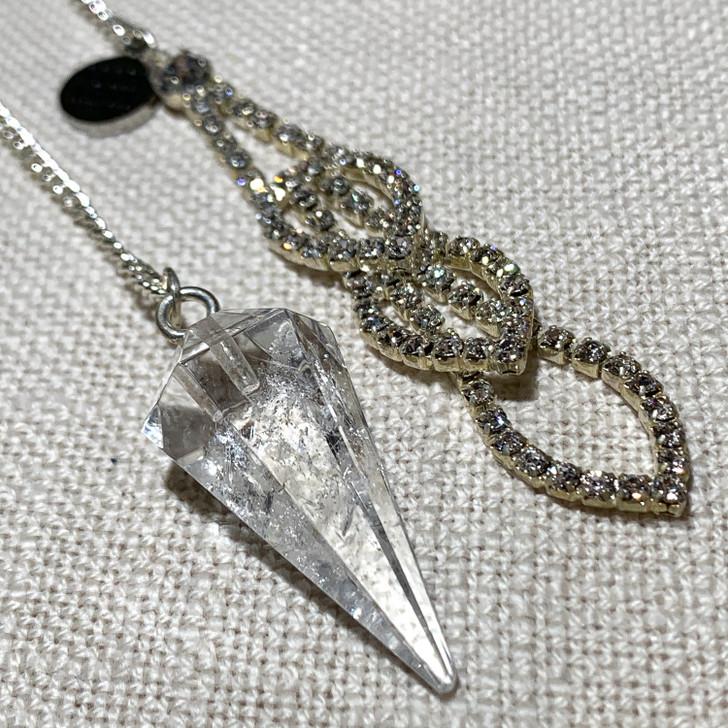 Clear Quartz Diamante Pendulum