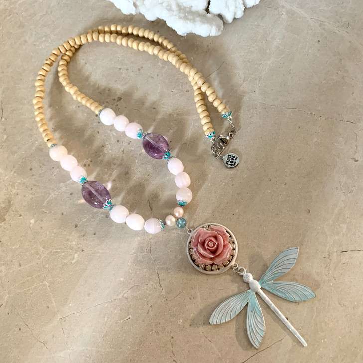 Adored Beauty Dragonfly Necklace